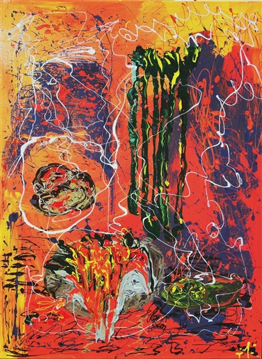Herbal, 2013 Acrylic & Enamel on Canvas 48 x 36
