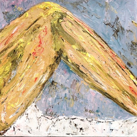 The Power of Legs - $2,800, Expressive Media, Palette Knife, Acrylic and Enamel on Canvas, 24 x 48