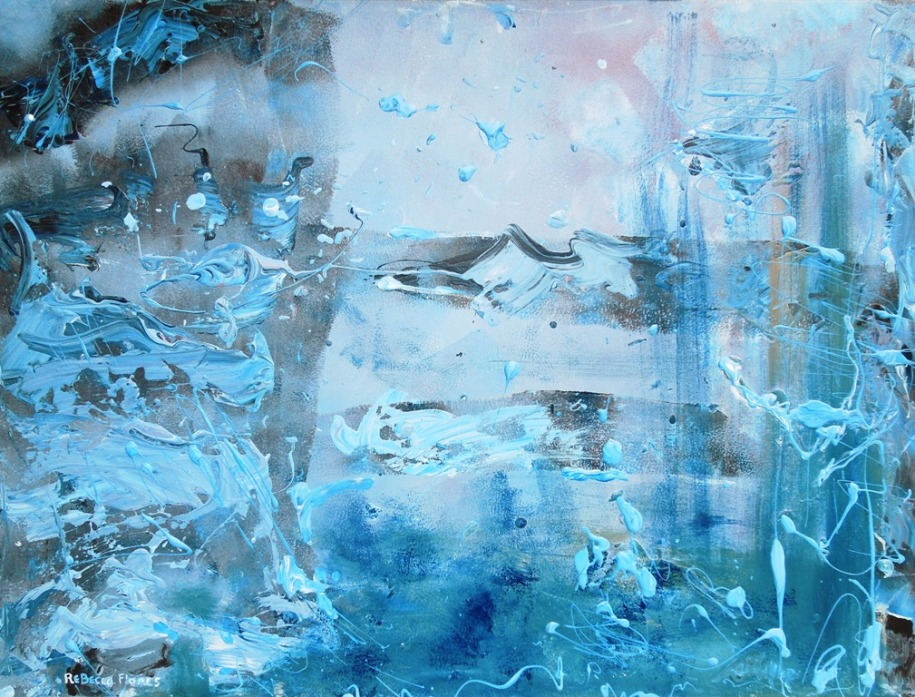 "The Feeling of Blue - 48"" x 60"", Copyright 2013"