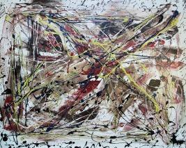 Awareness - $4,200, Acrylic and Enamel on Canvas , 48 x 60