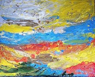 Freedom - $4,200, Acrylic and Enamel on Canvas, 48 x 60