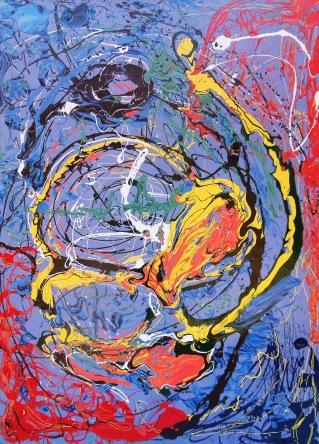 Global Energy - $3,200, Acrylic and Enamel on Canvas, 48 x 36