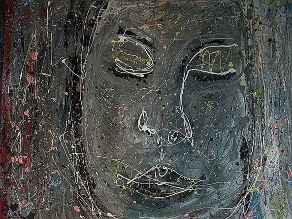 Hope - $4,200, Acrylic and Enamel on Canvas, 48 x 60