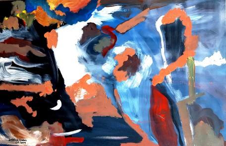 Logic - $600, Acrylic on Canvas, 26 x 24