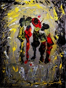 We Are One - $3,200, Acrylic and Enamel on Canvas, 48 x 36