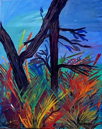 Planta Exotica - Acrylic on Canvas, 24 x 20