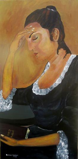 Bargaining - Acrylic on Canvas, 48 x 36